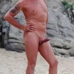 My husband t the beach
