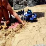My husband fuck me at the public beach
