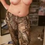 Nothing hotter than a woman in camo..... unless her boobs are out too!!