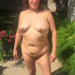 Coffee time is over, now it's time for some naked yard work!