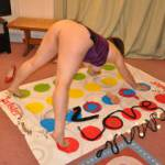 Just a normal Sunday evening in playing Twister!  We just need more players, is anyone interested?