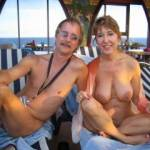 nude cruising in the Caribbean. Do you like my wife's smile and tits?