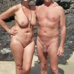 Us together at our local nude beach.