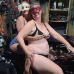Wife with sexymilf82 on her ole man's bike