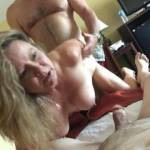 Wife taking on two men.