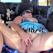 Horny from flashing at a public beach