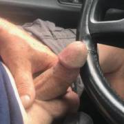 driving around with my dick out..