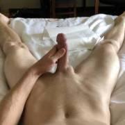 hard dick in bed