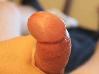 My juicy uncut penis with the foreskin retracted.