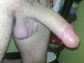 Her is my dick is no hard to 100% but my head looks pink. u think my dick is nice looking?