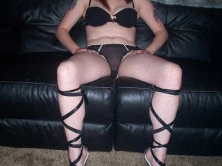 Love the lingerie and your sexy legs!!!