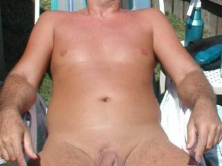 Damn, that is beautiful....what a gorgeous cock. I'd love to suck it. Beautiful balls too. I could gobble that cock up every day.  I think we could take some great pictures together! Love the outside pic and I like your grooming!  Mrs.M
