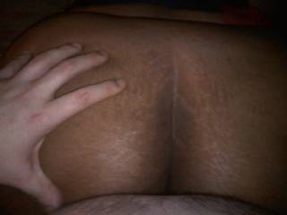 getting a nice feel of this amazing ass while im balls deep in that tight wet pussy