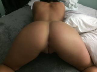 Bending over showing off my ass