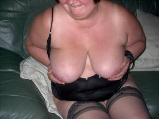 What lovely boobs you've got, thank you for allowing me to see them, now if you'd only allow me to feel them, kiss them and lick your nipples...omg, i'd be in heaven!