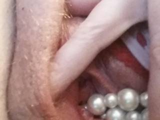 mmmmm I would love to pull those out of your hot juicy pussy with my teeth and tongue --omgosh so erotic :)