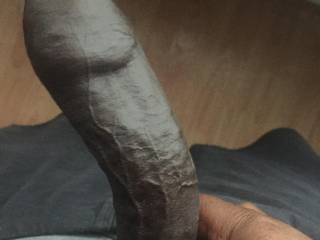 Stroking hard dick