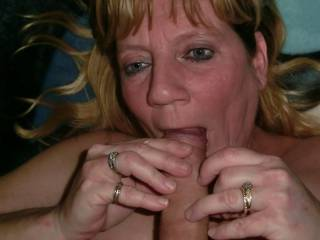 She loves sucking on cocks! She never has enough of just mine, so she satisfies herself with the young neighbor's cock!