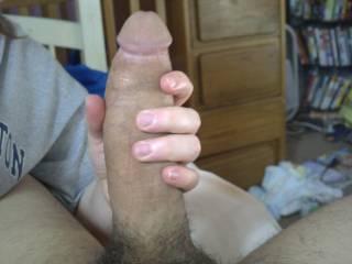 grabbin my boyfriends huge cock