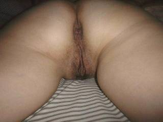 Wife showing me her ass and just waiting to get a hard cock in either hole.