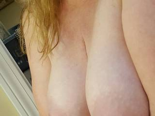 Who wants to nurse on my big milk filled tits?