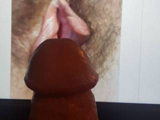 Cock on sexy pussy tribute