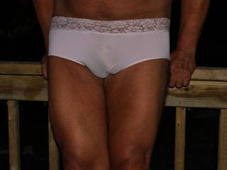 all my panties are thongs, but she thought I would like to try a pair of ''panties'', with a full back. I love them.