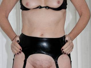 Indoors, posing in PVC, any interest?