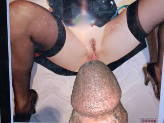 this is for carolinebq, would you lick her sweet cum off of this bbc ?