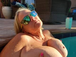 Sunset on my nipples feels sooo good!
