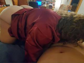 We watched some threesome porn & she got hot
