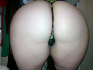 my wifes ass in a thong!