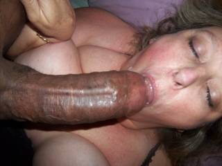 NOTHING MORE BEAUTIFUL THEN A WHITE WIFE WITH A MOUTHFUL OF BLACK COCK