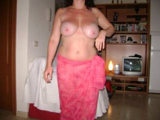 she has a beautiful body all the way around would love to suck those big sexy ass tits then fuck the shit out of you hunny