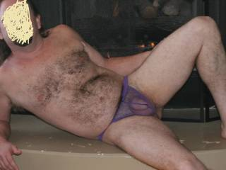 Posing for a lovely lady. Do you like hairy chest?