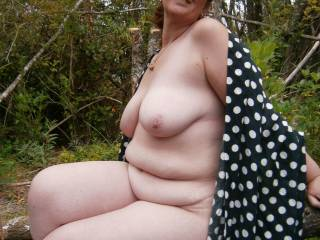 Totally naked in the great outdoors. This makes me horny! (scares bf/photographer shitless lol but he loves taking pics of me naked...so)