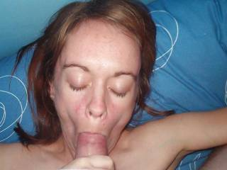 wife sucking the cum out my cock