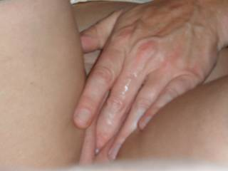 Fuckbuddy's wet fingers after making C cum and gush.