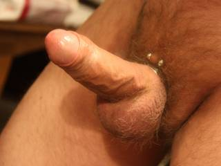 Nice teasing cock! ene if i'm not gay, i would suck it hard until you cum! Just love shaved uncut! Nice hardon!