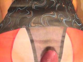 About to stroke my rock hard cock to gorge1\'s sweet panties and tits!