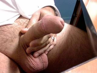 Jerking off at work (again!) with full balls!