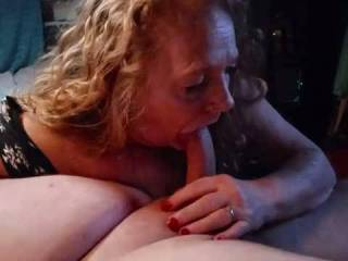 Red sucking some serious cock !!!