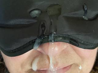 The feel of warm cum on her face.