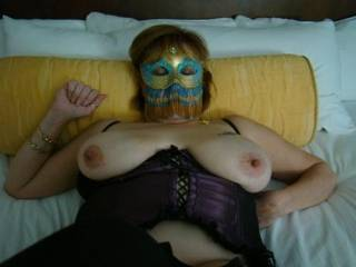 very nice tits...bet its hot seeing them in action as you pound that pussy deep and hard w/ them big tits a bouncin