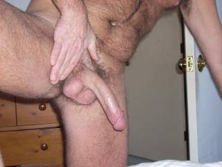 u have a nice cock and testicles too. thanks for the comment on my pic that u left. I feel the same way