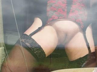 Flashing at the window..