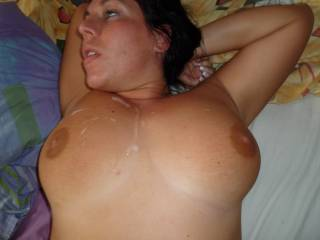 Hun My cum will cover all your body anyway even if I aim it n your face which my favorite place to shoot my cum specially on pretty women faces like yours