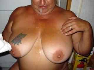 she is so sexy!!  I get hard looking at her great tits!!