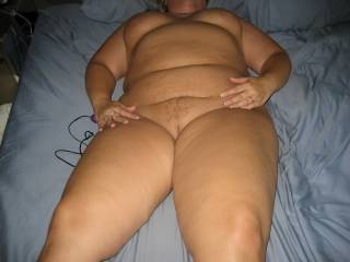 Mrs Daytonohfun looking worn out and well fucked after I finished fucking her for about 2 hours as her hubby watched.  She\'s laying there with a cum filled pussy and my creampie inside of her