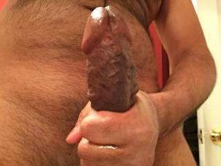 Very nice big cock. Mouth watering and my virgin ass is puckering for it.